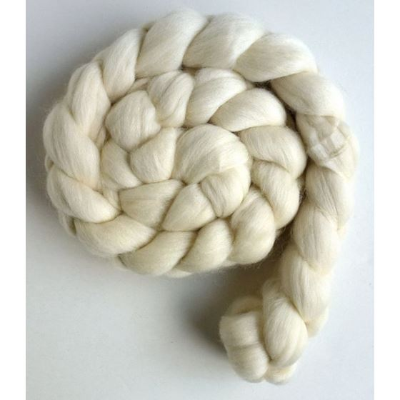 Corriedale Ecru Roving (Top) - Ecru Spinning or Fe